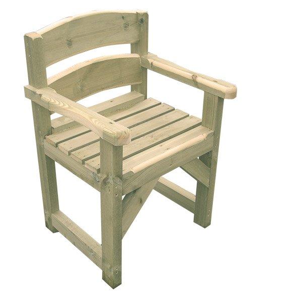 High Wooden Garden Chair